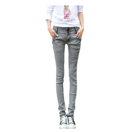 Jjsiamstar Jean Women'S Pencil Pants Skinny Jeans Medium Gray