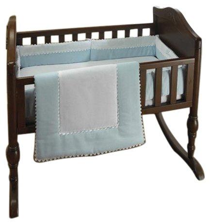 Baby Doll Bedding Ric Rac Port-a-Crib Set, Blue