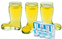 Shot Glass Beer Boot, Gift Set of 3 by HomeWetBar