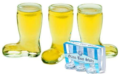 Shot Glass Beer Boot, Gift Set of 3