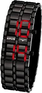 APUS Zeta Black-Red LED Watch for Him Design Highlight