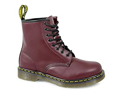 Dr. Martens Adult 1460z Classic Airwair 8 Eyelet Boots UK 10 Cherry Red Smooth