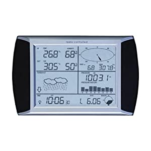 Nevada Touch Screen Wireless Weather Centre C/W Solar Panel & PC Interface - Black/White/Silver: Amazon.co.uk: Sports & Outdoors