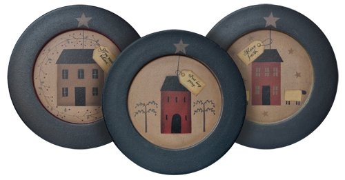 Rustic Dinnerware: Plate and Stand Set - Primitive Houses with ...
