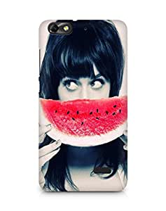 Amez designer printed 3d premium high quality back case cover for Huawei Honor 4C (Girl with Watermelon)