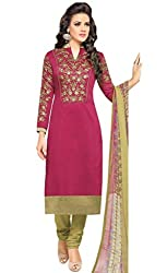 ShivFab Present All New Formal Wear Embroidered Pink Color Dress Meterial.(COTTON DRESS) ANGROOP DAIRYMILK VOL_10