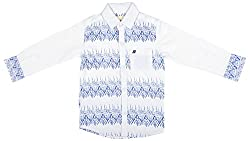 Zedd Boys' Cotton Shirt (E-C Zks1069A_22, White, 22)