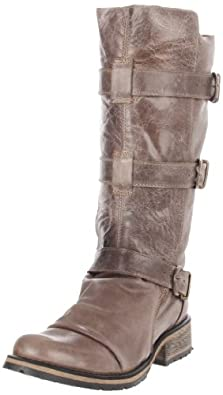 Steve Madden Women's Buckkie Boot,Stone,7 M US