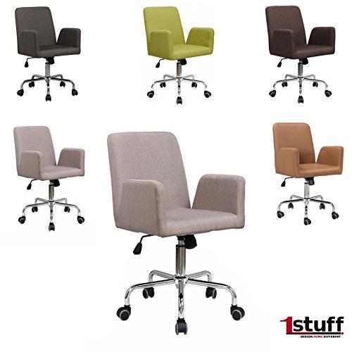 Brostuhl-RETRO-von-1stuff-DAS-ORIGINAL-Retrostuhl-mit-hochwertigem-Leinen-Bezug-Drehstuhl-Chefsessel-Schreibtischstuhl-Retrosessel-einstellbare-Wippfunktion-nach-hinten-hhenverstellbar-und-360-Grad-dr