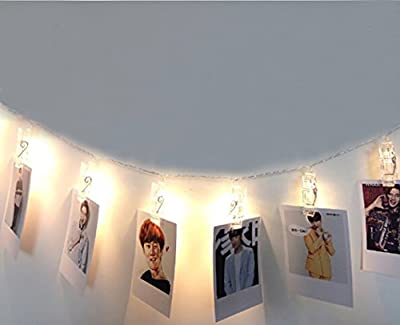 SHHE Photo Clip Fairy Light 5M 30 LED USB Powered String Lights for Hanging Pictures Indoor Outdoor Decoration