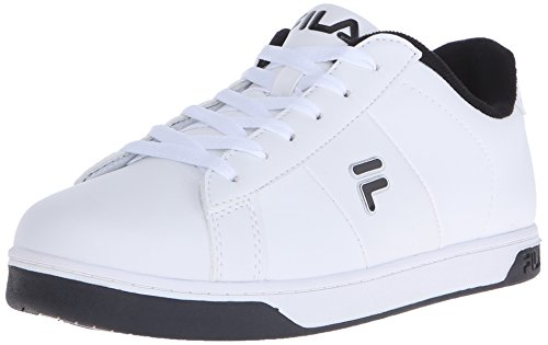 Fila Men's Westlake Fashion Sneaker, White/Black/Metallic Silver, 8.5 M US