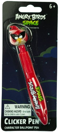 "Space Red Bird: Angry Birds Space ~5.5"" Clicker Pen - Character Ballpoint Pen"