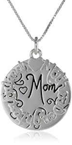 """Sterling Silver """"Mother Daughter Friend Mom"""" Two Charm Necklace, 18"""""""