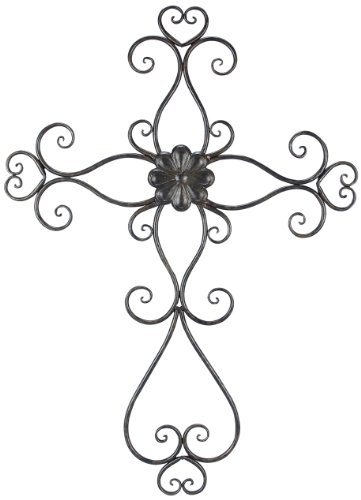 Young's Large Metal Wall Cross, 26-Inch