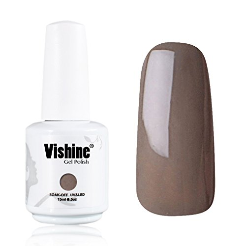 Vishine-Gelpolish-Lacquer-Shiny-Color-Soak-Off-UV-LED-Gel-Nail-Polish-Professional-Manicure-Greyish-Brown1541