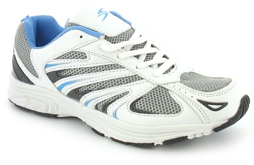 Womens White Lace Up Cheap Running Trainers -
