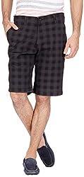Urbantouch Men's Cotton Shorts(4663, Black, 32)