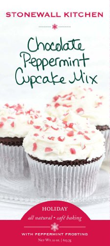 Stonewall Kitchen Chocolate Cupcake with Peppermint Frosting Mix, 22-Ounce
