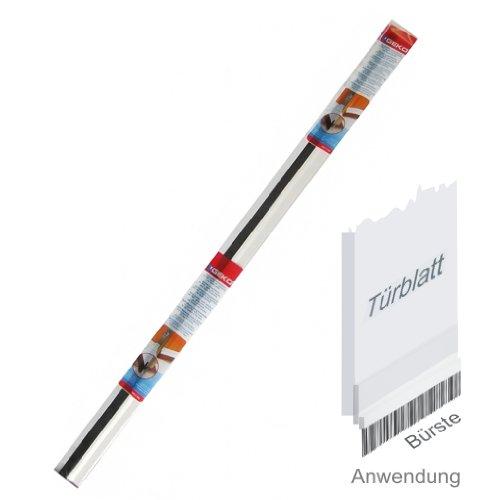 Geko 940006 Zugluftstopper aus hartem PVC mit Bürste- Selbstklebende Türdichtung - Verhindert Zugluft und Bodenstaub, Länge: 1 m, transparent