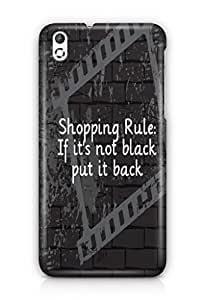 YuBingo If It's not black, put it back Mobile Case Back Cover for HTC Desire 816