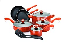 Paula Deen Signature Porcelain 12-Piece Cookware Set Orange