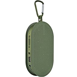 Green Wireless Soundbox Audio Loudspeaker Bluetooth 2.1 + EDR Stereo Speaker Hands-free with Mic TF Card U Disk USB Flash Drive Play
