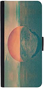 Snoogg Sunset Illustration Designer Protective Phone Flip Case Cover For Htc Desire-626G