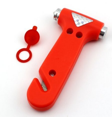 Demarkt Cinturón de seguridad de Escape Interruptor ventana del cortador, anaranjado oscuro