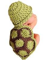Amonfineshop 1 Satz Grau Hase Baby Tiere Strickmütze Fotografie Kleidung passen 0-9 Monat