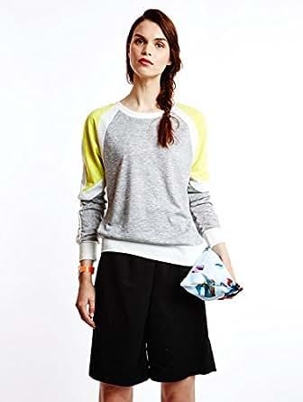 Sweat Spring Knit Top Nm Light Grey Melange Noisy May S Femme