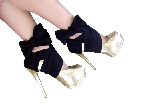 Heel Condoms in Black Chiffon