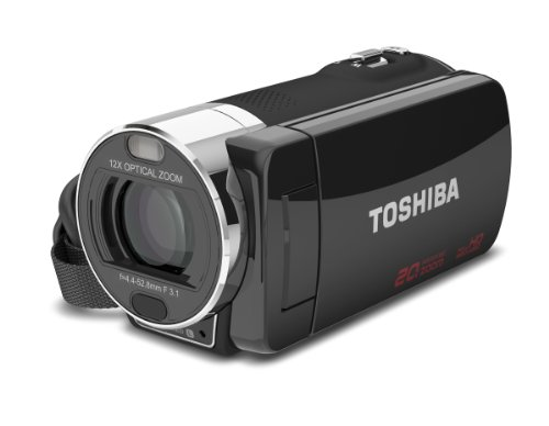 """Toshiba Camileo X200 Hd 1080P Camcorder, 12X Optical Zoom, 3"""" Touch Screen"""