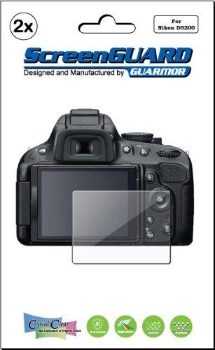 2X Nikon Digital Slr D5200 Camera Premium Clear Lcd Screen Protector Cover Guard Shield Film Kits (Package By Guarmor)