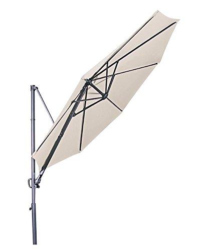"""Doppler Hochwertiger Ampelschirm """"Ravenna 300"""" in natur, neigbar, 360 Grad drehbar, UV-Schutz 50 PLUS, quadratisch jetzt bestellen"""