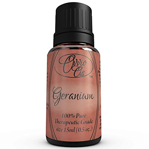 Geranium Oil by Ovvio (Egyptian) - 100% Pure Premium Grade Geranium Essential Oil - Holistic Aromatherapy (Comparable to doTERRA, Young Living, Healing Solutions, Sun Organic, Eden's Garden except Imported Directly From Egypt and 100% Authentic) - Large