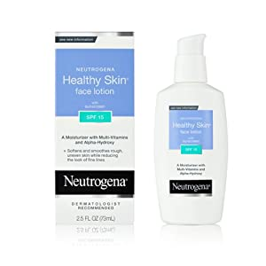 Neutrogena Healthy Skin Face Lotion, SPF 15, 2.5 Ounce