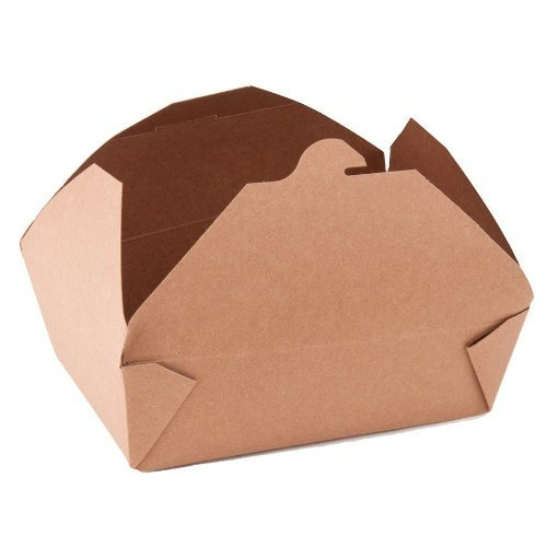 Southern Champion Tray 0763 #3 ChampPak Retro Take-Out Container, Kraft Paperboard with Poly Coated Inside, 7-3/4