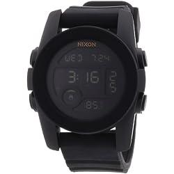 Nixon A490001-00 - Reloj digital unisex de silicona negro