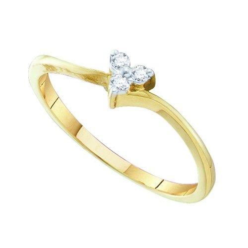 10K Yellow Gold 0.06 ct. Diamond Heart Ring