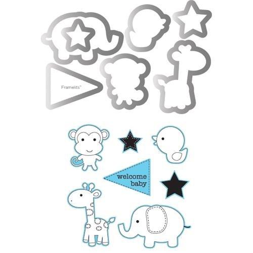 Sizzix Framelits Die Sets w/ Stamps - Framelits Die Set 7PK w/ Stamps Baby Boy sale 2015