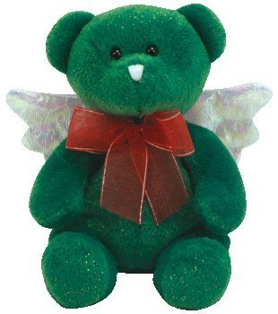 1 X TY Beanie Baby - HARK the Angel Bear (Green Version)
