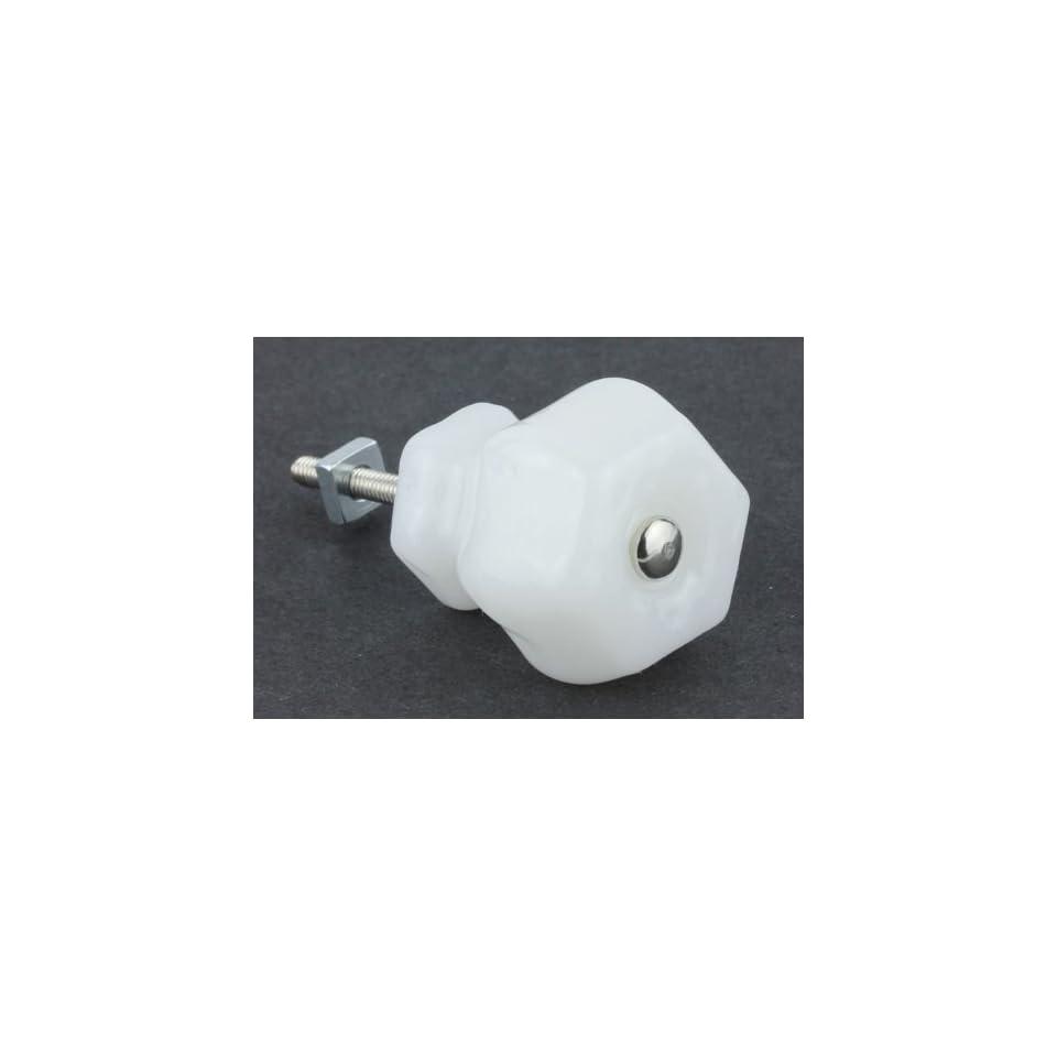 Antique Milk White Glass Knob 1 1/2 K39 GK 4MW