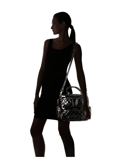 Sorial Women's Stephanie Shoulder Bag, Black Patent