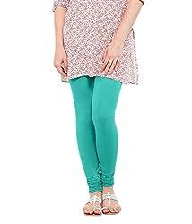 Lard Women's Cotton Leggings (Lard10_Blue_Free size)