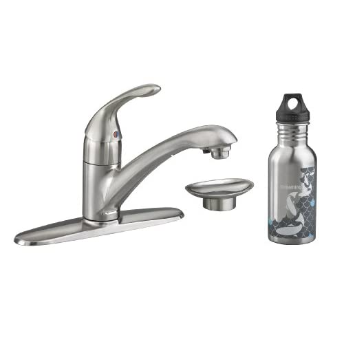 Cyber Monday Deals American Standard 4662.002.075 Streaming Kitchen Filter Faucet with Escutcheon and Soap Dish, Stainless Steel