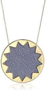 "House of Harlow 1960 Sunburst Pendant Necklace, 28"""