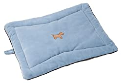 Simply Fido 35 by 22 by 3-Inch Crate Mat for Pets, Large, Baby Blue