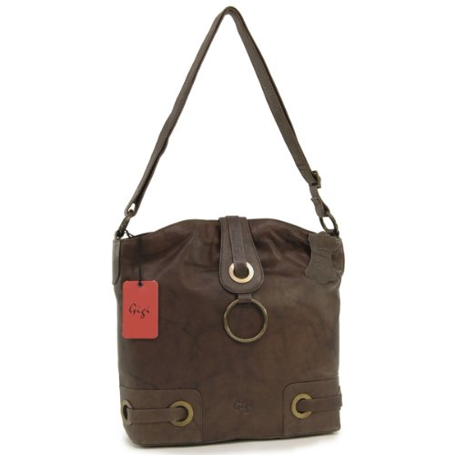 Gigi Large Cross-Body Bag A4 - Othello - Dark Brown