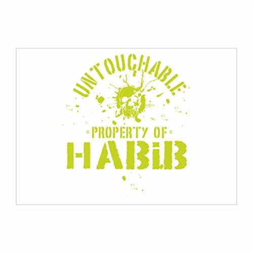 teeburon-untouchable-property-of-habib-sticker-pacchetto-di-4