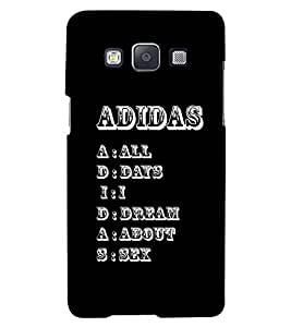 PRINTSWAG TEXT Designer Back Cover Case for SAMSUNG GALAXY A7